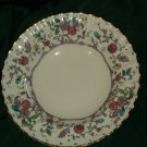 Royal Worcester Kashmir Rimmed Soup Bowl Ribbed No. 177