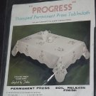 Stamped Permanent Press Progress Queen Anne 2 napkins  No. 190