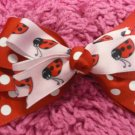 Red Polka Dot & Pink Lady Bug  Hair Bow!!!