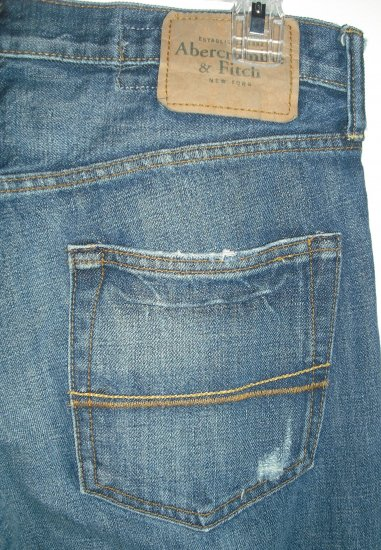 Men Abercrombie & Fitch Destroyed Jeans 30x30 H6-158 AF