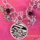 Zebra & Crown Bling Necklace!!!!!! Z2-1/