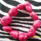 Pink In  Color Rock Braclet!!!!!Z2-35