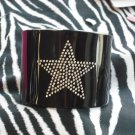 Wide Black Cuff w/ Bling Star!!!!!!!  Z2-83