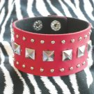 Red Leather Studded Cuff!!!!!!! Z2-85