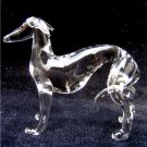 WHIPPET DOG CRYSTAL GLASS MINIATURE FIGURINE