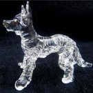 GERMAN SHEPHERD (ALSATIAN) DOG CRYSTAL GLASS MINIATURE