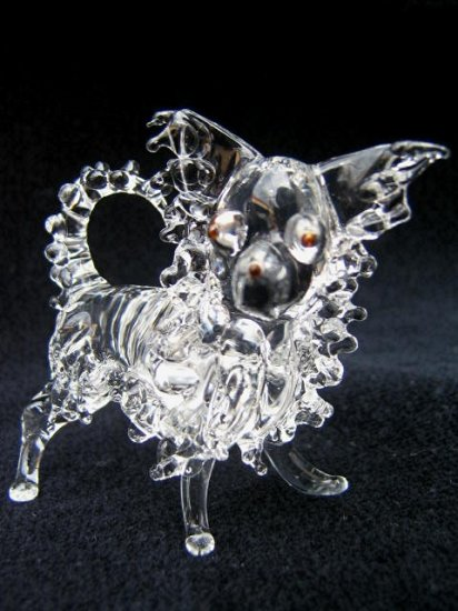 CHIHUAHUA DOG CRYSTAL GLASS MINIATURE FIGURINE