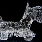 SCOTTISH TERRIER (SCOTTIE) DOG CRYSTAL GLASS MINIATURE