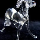 SALUKI DOG CRYSTAL GLASS MINIATURE FIGURINE