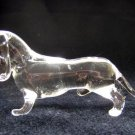 SHORTHAIRED DACHSHUND CRYSTAL GLASS MINIATURE FIGURINE