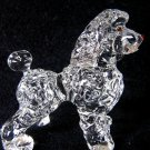POODLE CRYSTAL GLASS MINIATURE FIGURINE