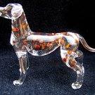 DALMATIAN DOG CRYSTAL GLASS MINIATURE FIGURINE