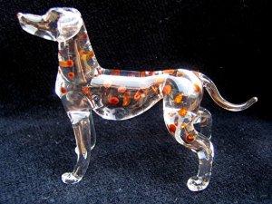 DALMATIAN DOG CRYSTAL GLASS MINIATURE FIGURINE