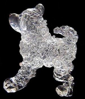 CHOW CHOW DOG CRYSTAL GLASS HANDMADE MINIATURE FIGURINE