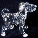 CHINESE SHAR PEI DOG CRYSTAL GLASS MINIATURE FIGURINE