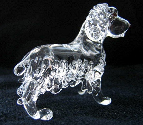 ENGLISH COCKER SPANIEL DOG CRYSTAL GLASS MINIATURE