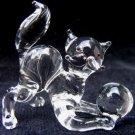 CAT KITTEN CRYSTAL GLASS COLLECTIBLE MINIATURE FIGURINE