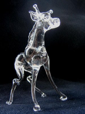 GIRAFFE CRYSTAL GLASS COLLECTIBLE MINIATURE FIGURINE
