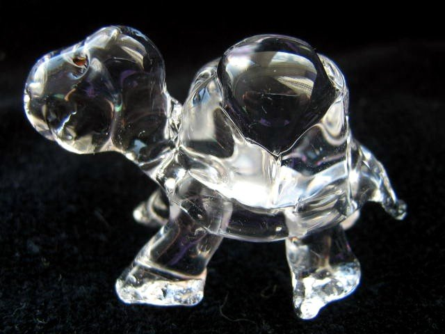 TURTLE CRYSTAL GLASS COLLECTIBLE MINIATURE FIGURINE