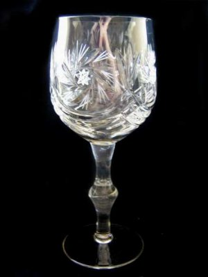 LOT OF 6 MASSIVE GOBLETS OF CRYSTAL GLASS