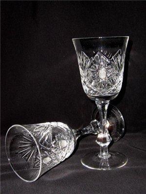 WHITE WINE HANDCUT CRYSTAL GLASSES (SET OF 6)