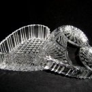 CRYSTAL GLASS HEART SHAPED BOX WITH A LID