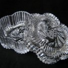 CRYSTAL GLASS FLOWER SHAPED BOX WITH A LID