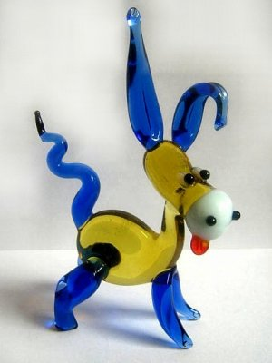 UKRAINIAN MURANO / DONKEY ART GLASS LAMPWORK MINIATURE