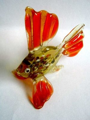 FISH ART GLASS COLLECTIBLE MINIATURE FIGURINE