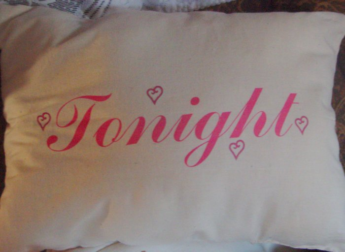 Couples Muslin Pillow handcrafted Tonight