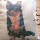 Personalized Photo Puppy (dog) Pillow Handmade Unique