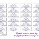 Lavendar Embossed Alphabet PNG Templates