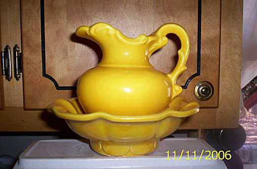 McCoy Yellow Pitcher Set