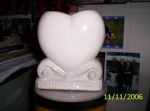 White Heart Vase