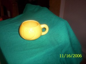 Yellow Smiley Face Cup by McCoy