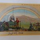 Salt Lake City, Utah Linen Postcard - Building First House - 1946