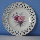 Vintage Aiyo China Pink and Magenta Flower Plate - Japan