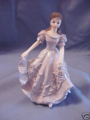 Quinceanera Cake Topper Figure Violet Dress 15