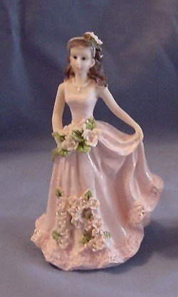 Quinceanera Cake Topper Figure 15 Pink Dress