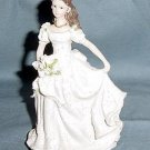 Quinceanera Cake Topper Figure White Dress