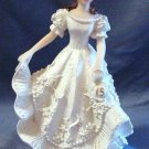 Quinceanera Cake Topper Figure White Dress 15