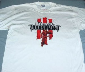 Unreal Tournament III T-Shirt White Large New