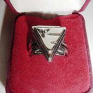 Collectible Concepts Triangle Metal Promo Ring Adjusts
