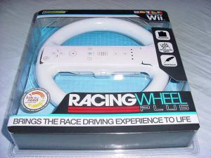 Wii White Racing Wheel (Komodo) NEW