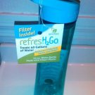 RefresH2Go Water Bottle 22 oz Aqua New
