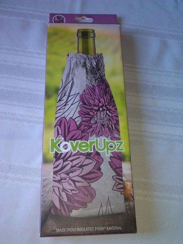 KoverUpz Wine Bottle Insulated Bag Pink Floral