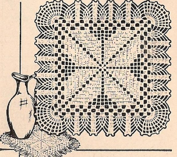 Free Crochet Patterns Doily Square Dancox For