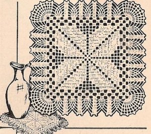 CROCHETED CHAIR BACK & ARMS DOILY PINEAPPLE PATTERN | Vintage Crochet