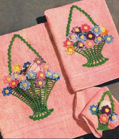 Crochet Pattern Towel Appliques
