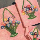 Towel Appliques, Baskets Towel Crochet, Pattern Basket